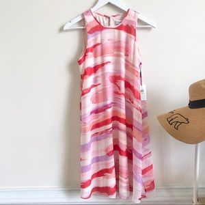 NWT Calvin Klein watercolor abstract tent dress